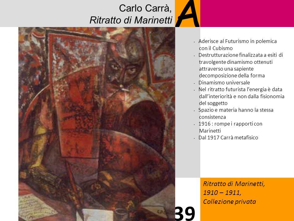 A 39 Carlo Carrà, Ritratto di Marinetti 4 Ritratto di Marinetti,