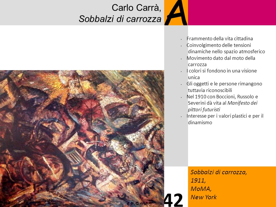 A 42 Carlo Carrà, Sobbalzi di carrozza 7 Sobbalzi di carrozza, 1911,