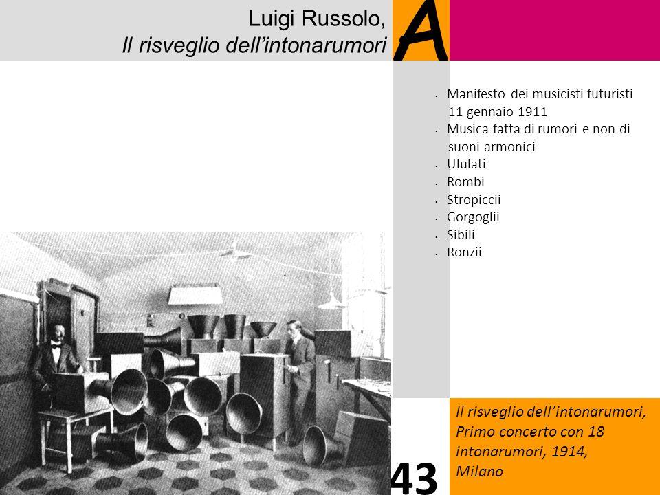 A 43 Luigi Russolo, Il risveglio dell'intonarumori 8