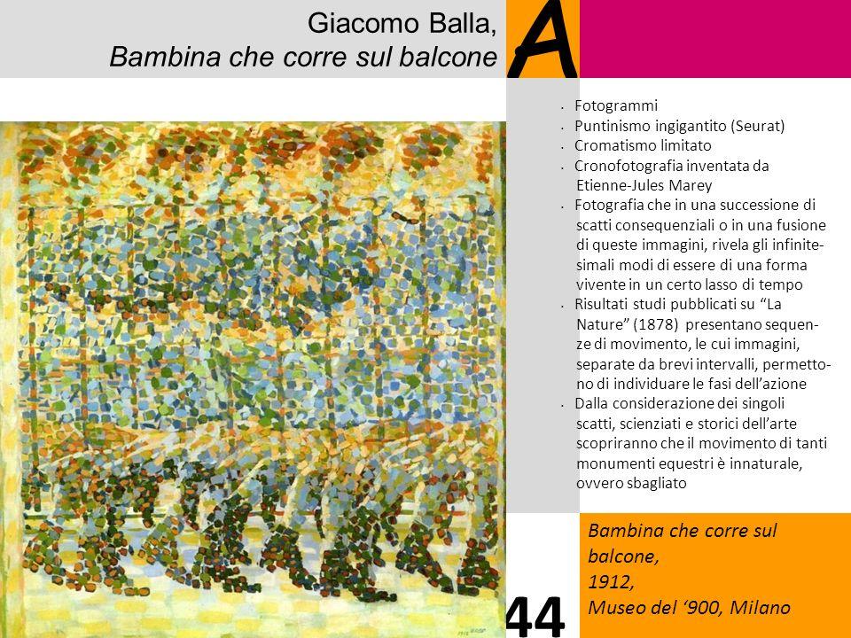A 44 Giacomo Balla, Bambina che corre sul balcone 9
