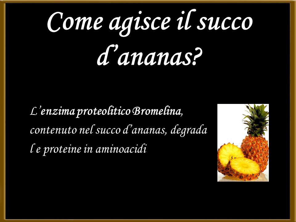 Come agisce il succo d'ananas