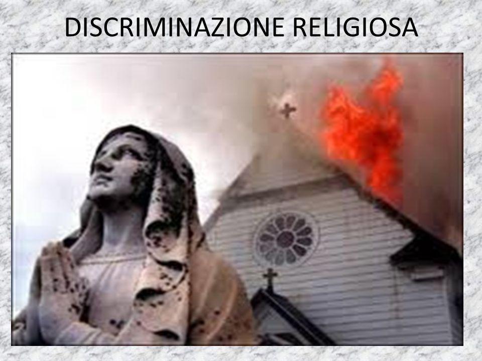 DISCRIMINAZIONE RELIGIOSA