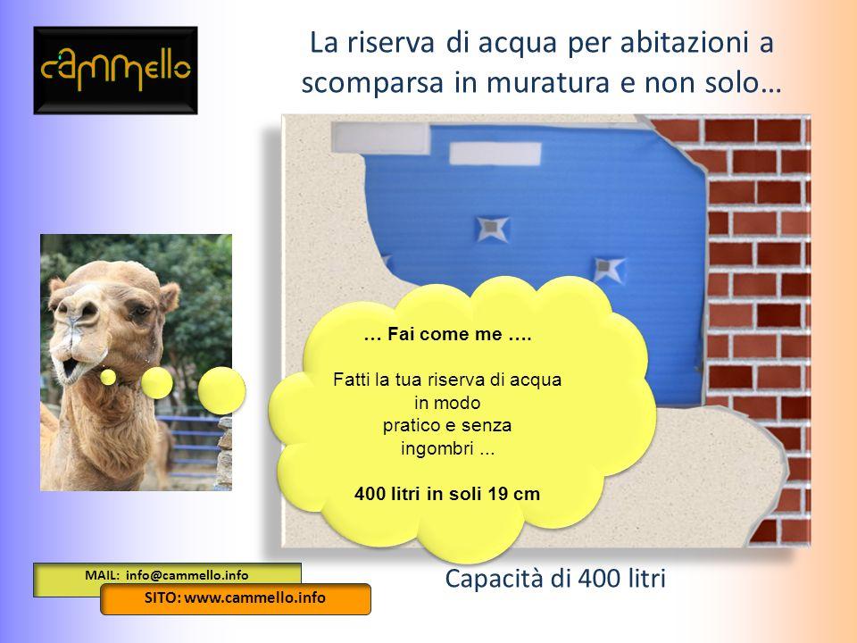 MAIL: info@cammello.info SITO: www.cammello.info