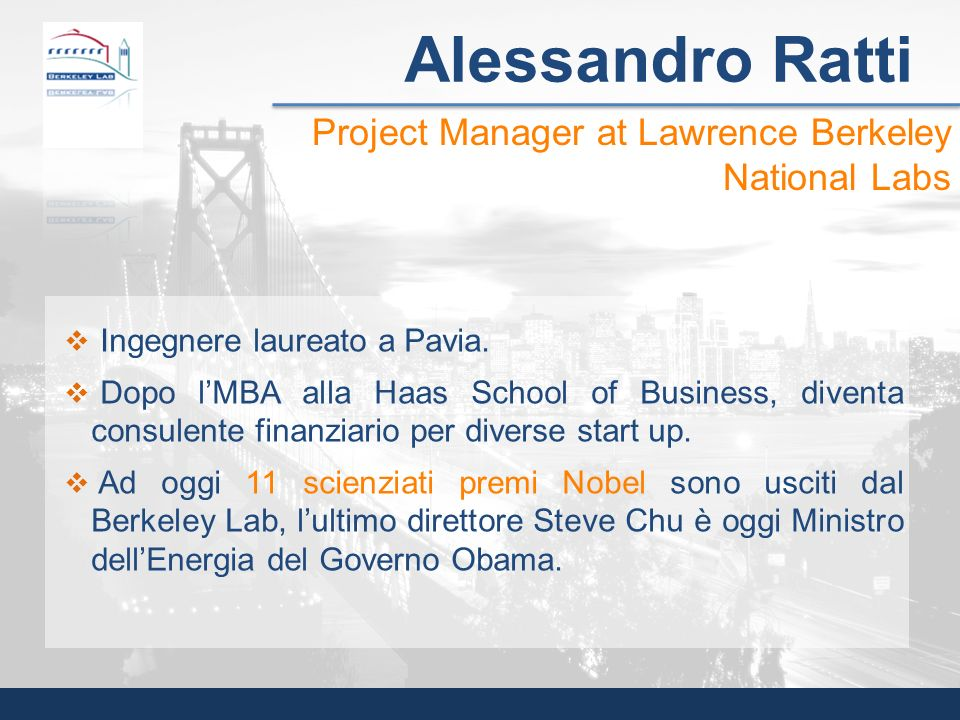 Alessandro Ratti Project Manager at Lawrence Berkeley National Labs