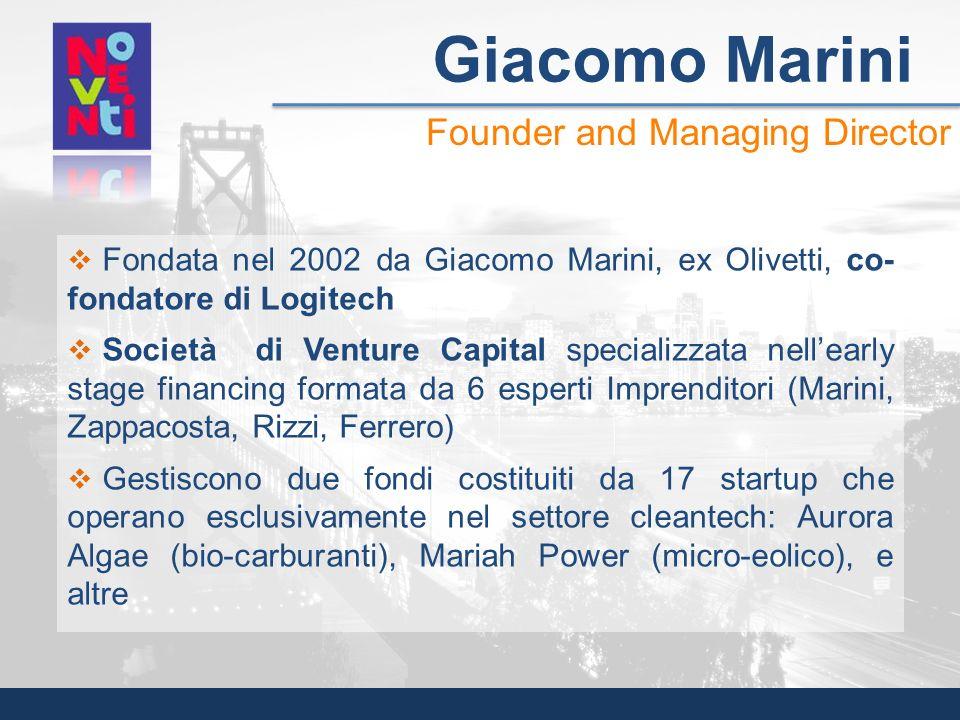 Giacomo Marini Founder and Managing Director