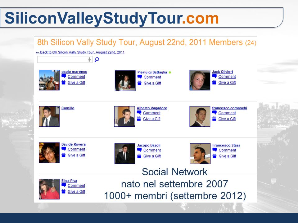 SiliconValleyStudyTour.com Social Network nato nel settembre 2007