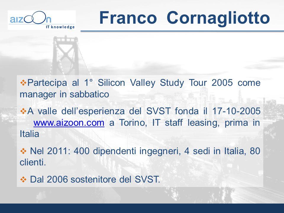 Franco Cornagliotto Partecipa al 1° Silicon Valley Study Tour 2005 come manager in sabbatico.