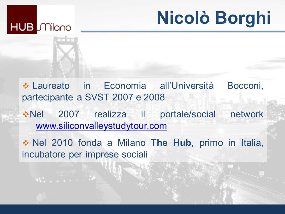 Nicolò Borghi Laureato in Economia all'Università Bocconi, partecipante a SVST 2007 e 2008.