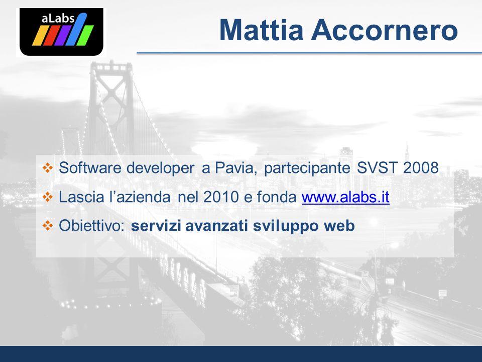 Mattia Accornero Software developer a Pavia, partecipante SVST 2008