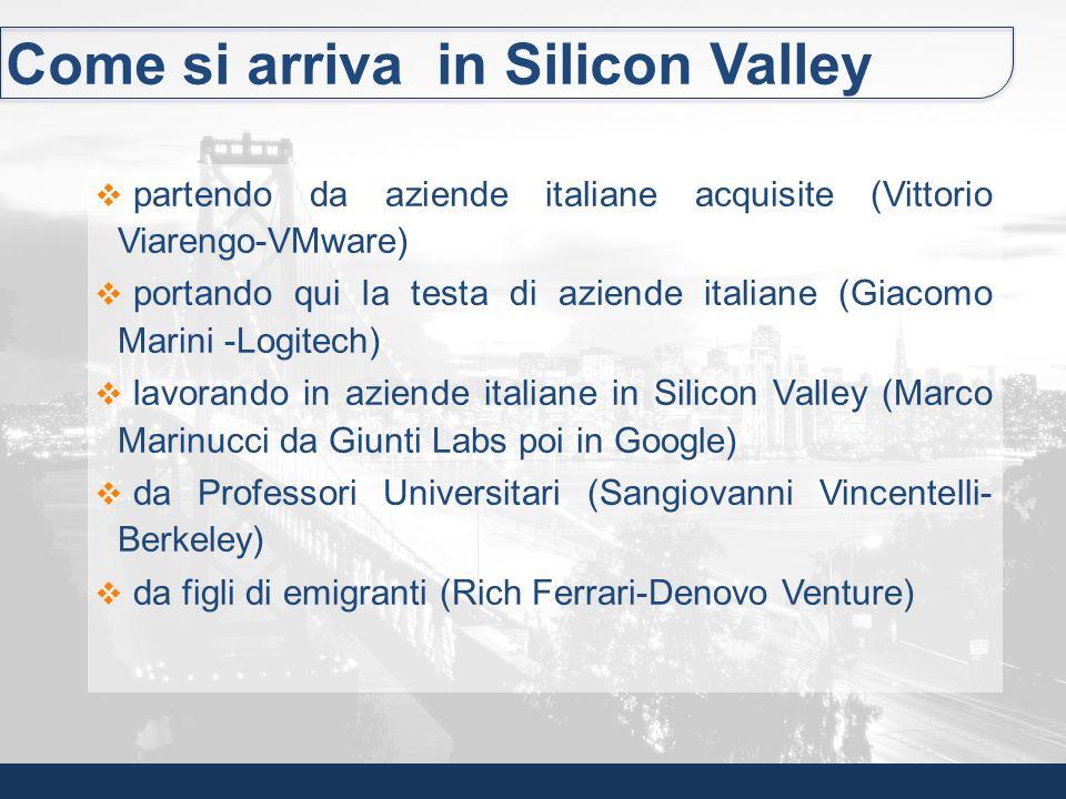 Come si arriva in Silicon Valley