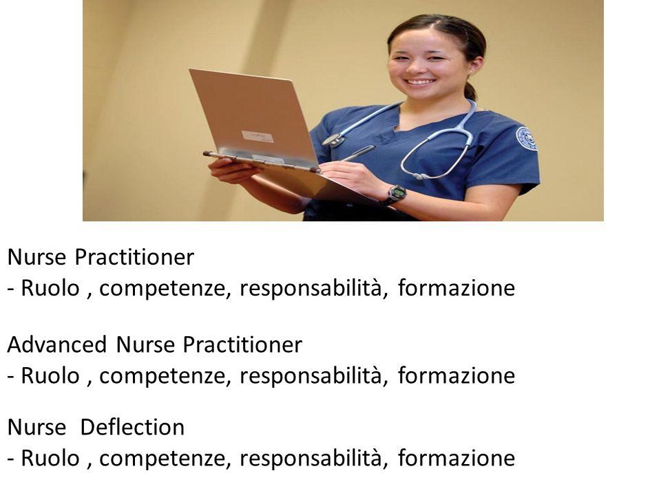 Nurse Practitioner - Ruolo , competenze, responsabilità, formazione. Advanced Nurse Practitioner. - Ruolo , competenze, responsabilità, formazione.