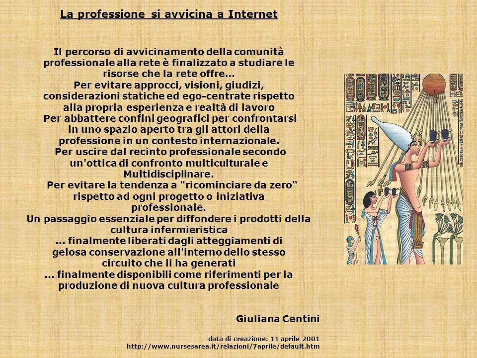 La professione si avvicina a Internet