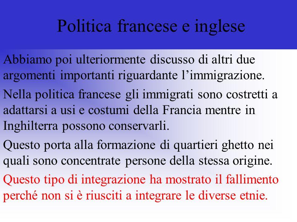 Politica francese e inglese