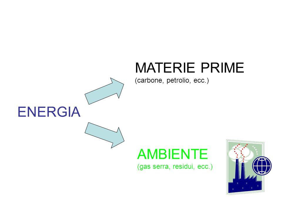 MATERIE PRIME ENERGIA AMBIENTE (carbone, petrolio, ecc.)