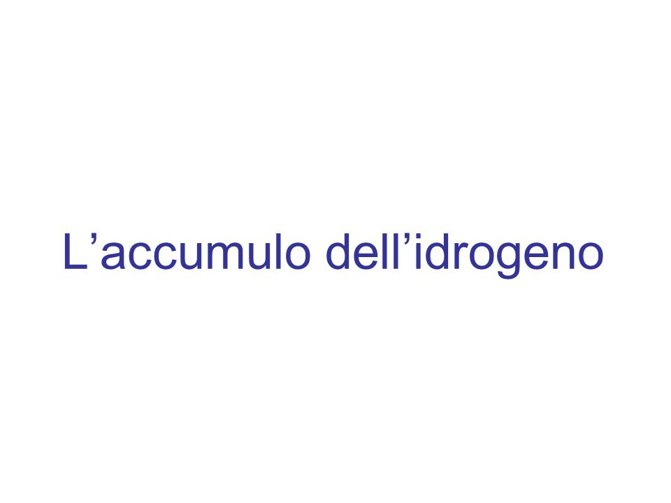 L'accumulo dell'idrogeno