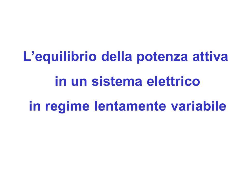 L'equilibrio della potenza attiva in un sistema elettrico in regime lentamente variabile