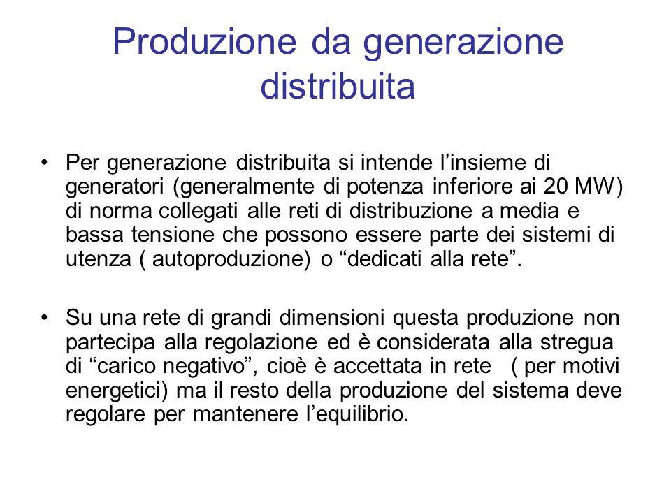 Produzione da generazione distribuita