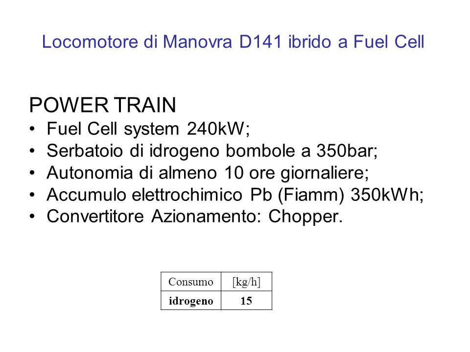 Locomotore di Manovra D141 ibrido a Fuel Cell