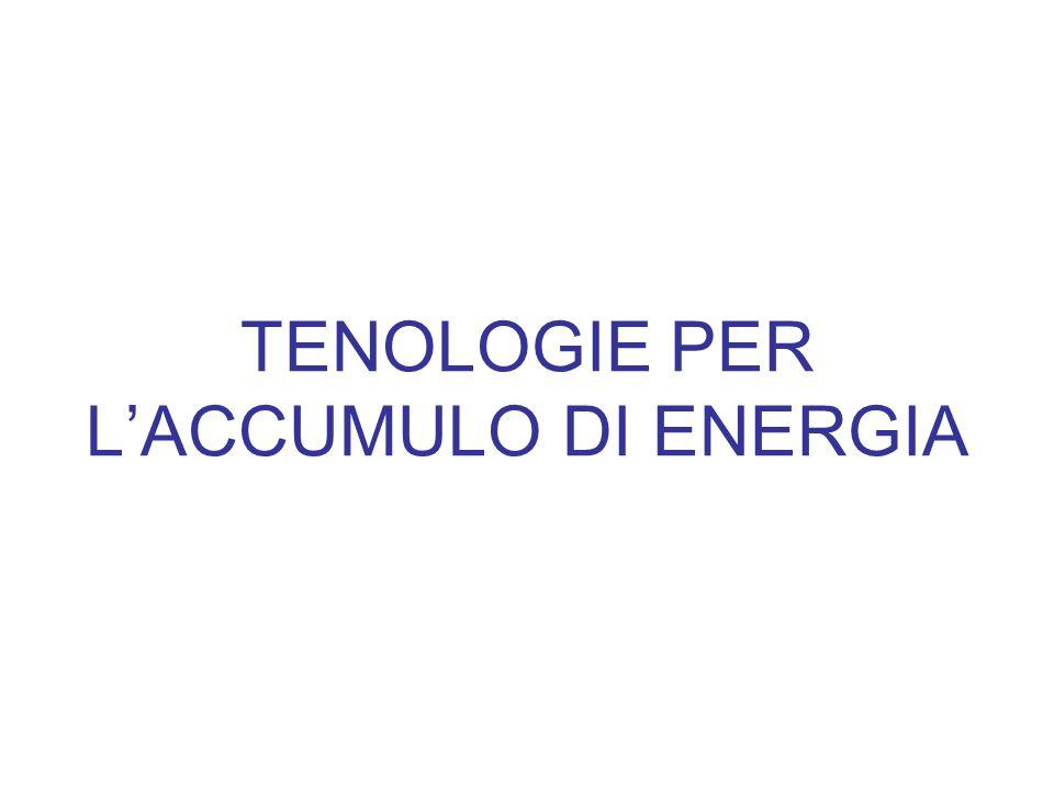 TENOLOGIE PER L'ACCUMULO DI ENERGIA