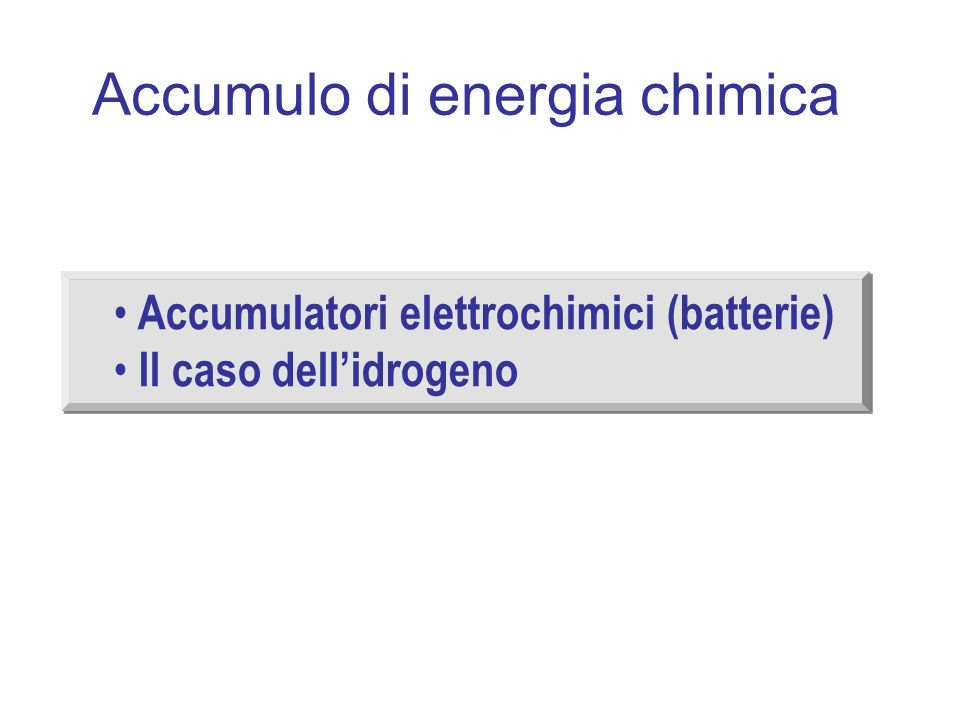 Accumulo di energia chimica