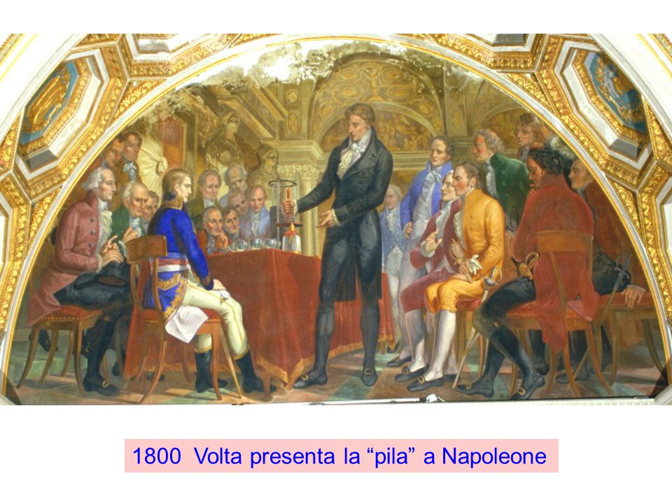 1800 Volta presenta la pila a Napoleone