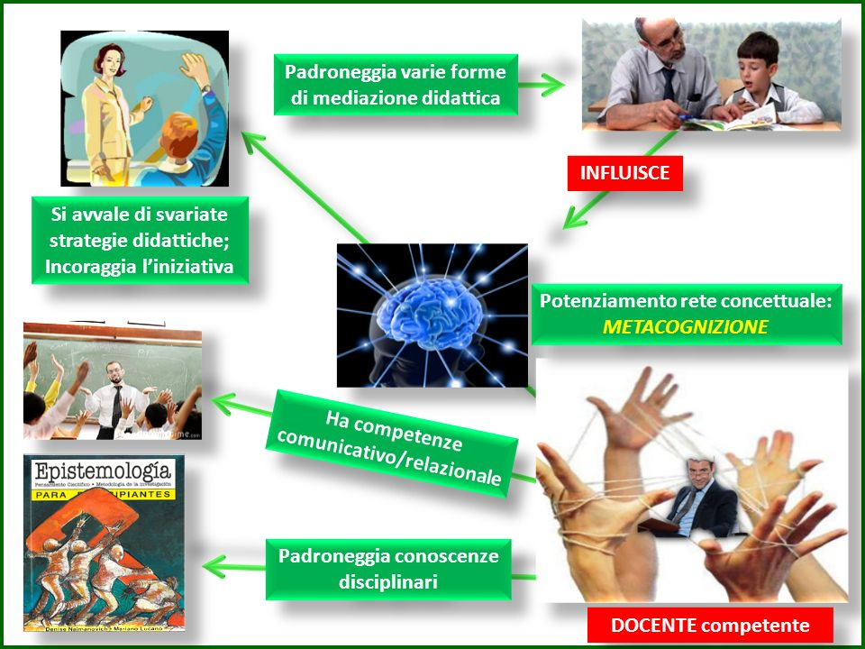 Padroneggia varie forme di mediazione didattica
