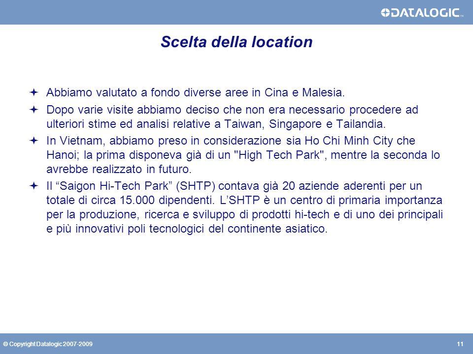 Scelta della location Abbiamo valutato a fondo diverse aree in Cina e Malesia.