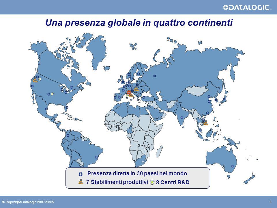 Una presenza globale in quattro continenti