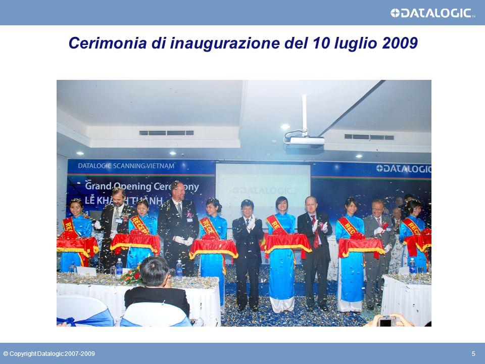 Cerimonia di inaugurazione del 10 luglio 2009