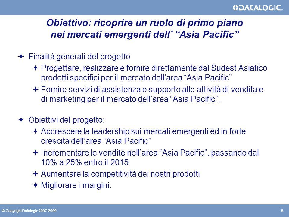 Obiettivo: ricoprire un ruolo di primo piano nei mercati emergenti dell' Asia Pacific