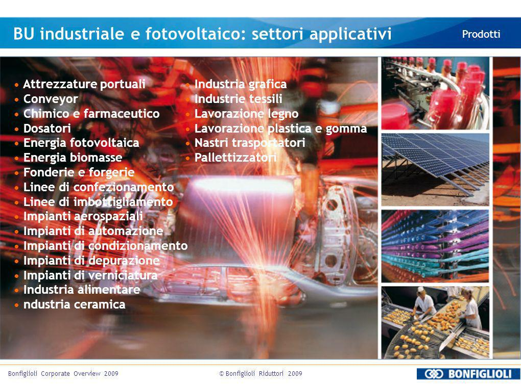 BU industriale e fotovoltaico: settori applicativi