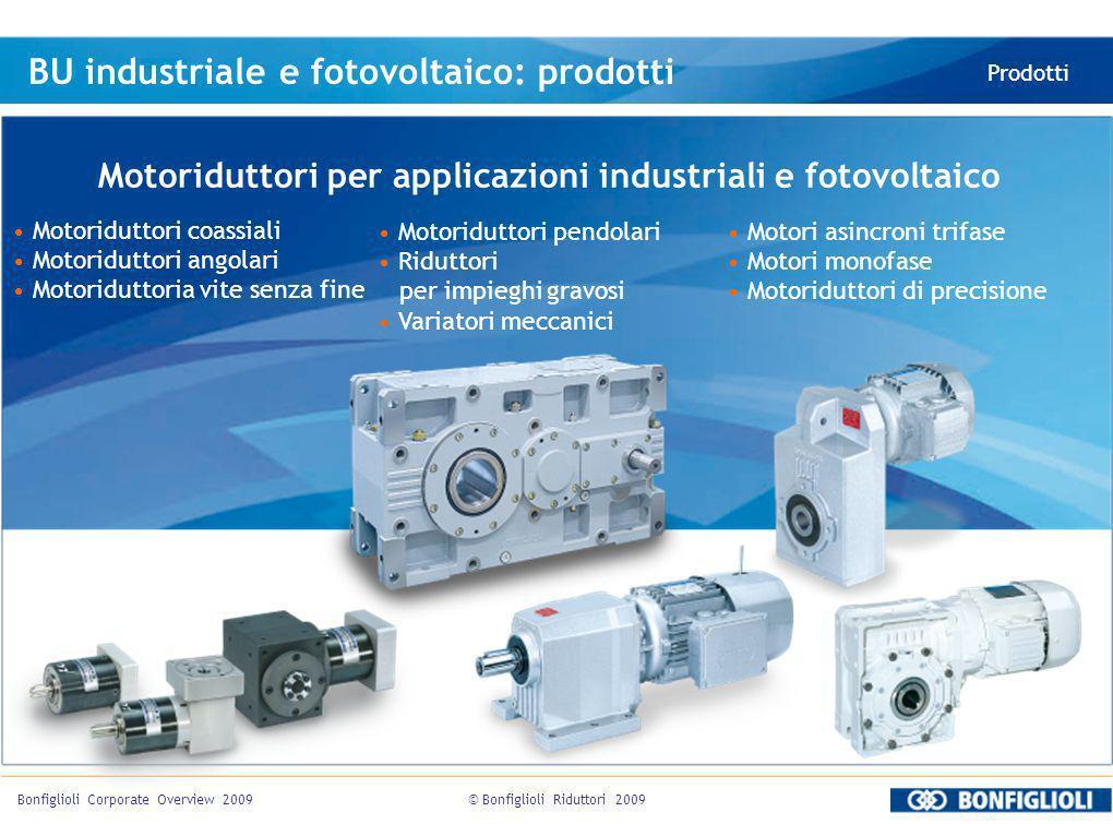 Motoriduttori per applicazioni industriali e fotovoltaico