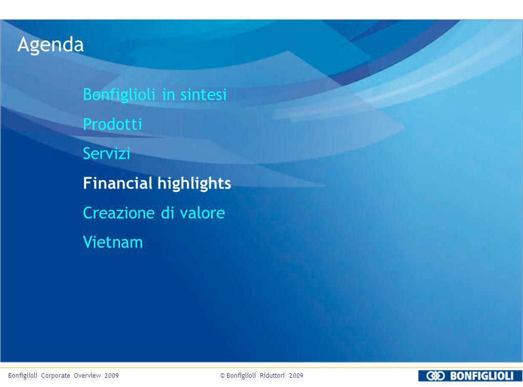 Agenda Bonfiglioli in sintesi Prodotti Servizi Financial highlights