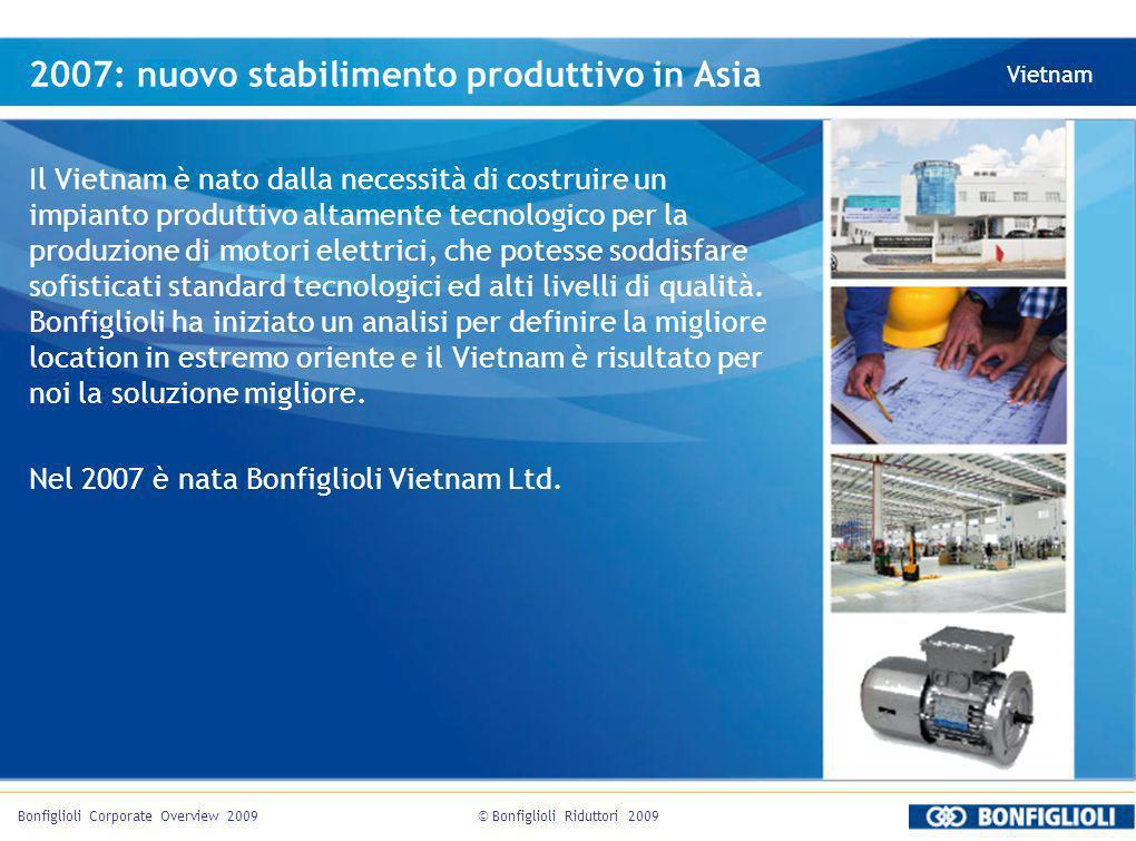 2007: nuovo stabilimento produttivo in Asia