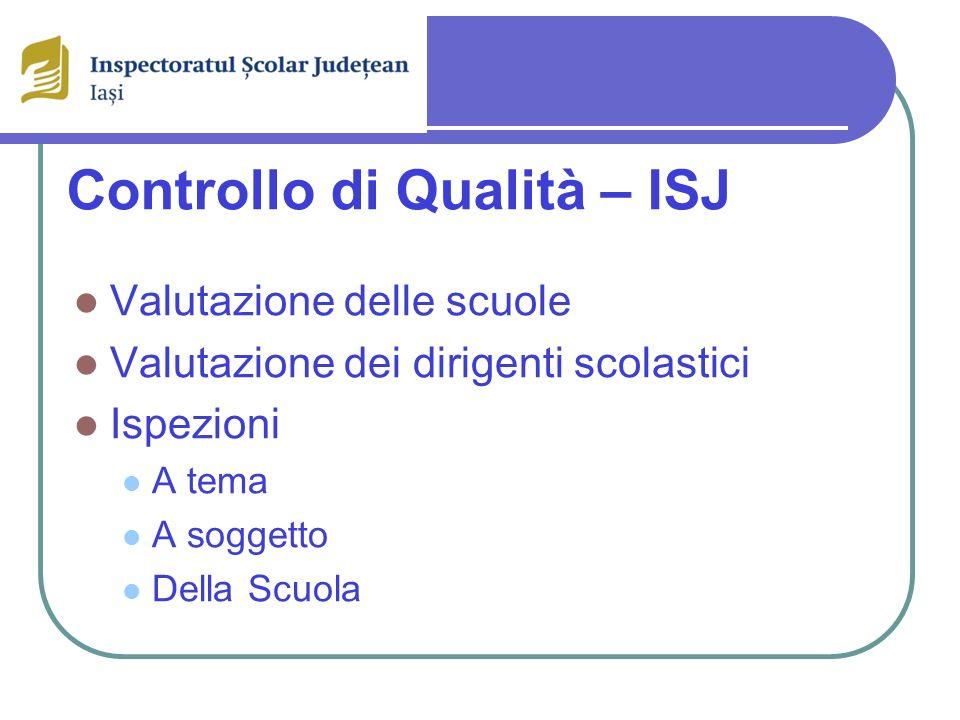 Controllo di Qualità – ISJ