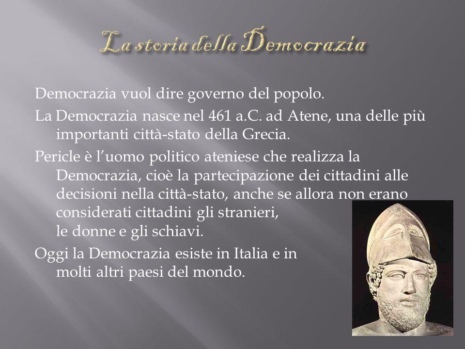 La storia della Democrazia