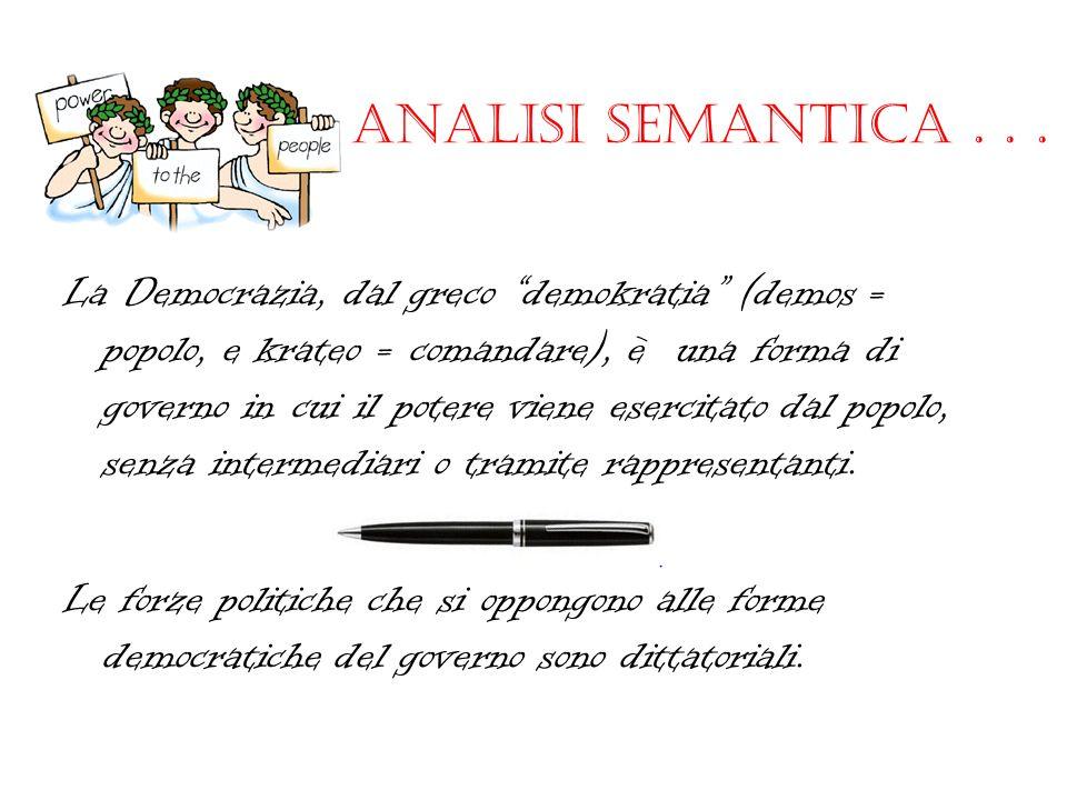 Analisi semantica . . .