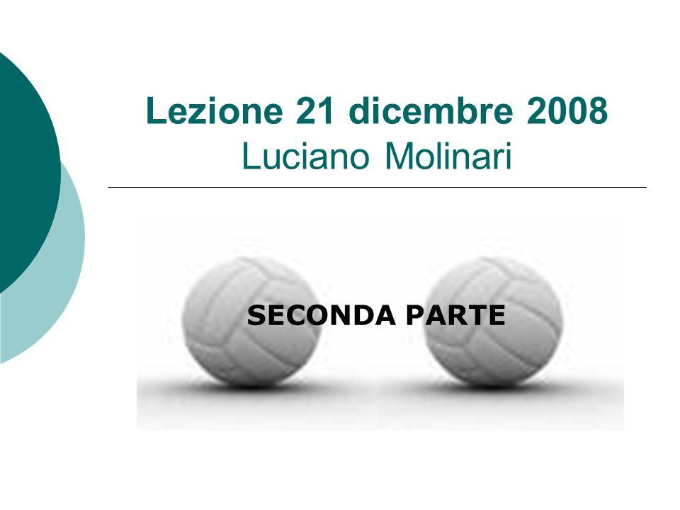 Lezione 21 dicembre 2008 Luciano Molinari