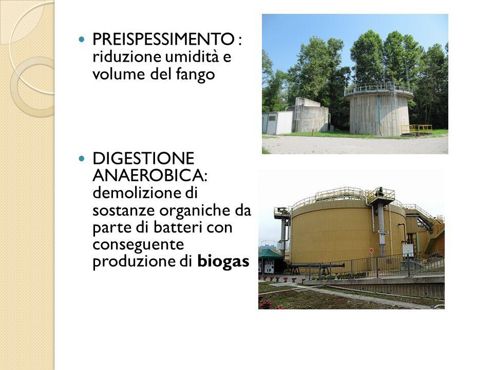 PREISPESSIMENTO : riduzione umidità e volume del fango