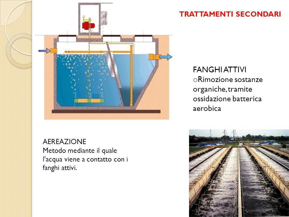 Rimozione sostanze organiche, tramite ossidazione batterica aerobica