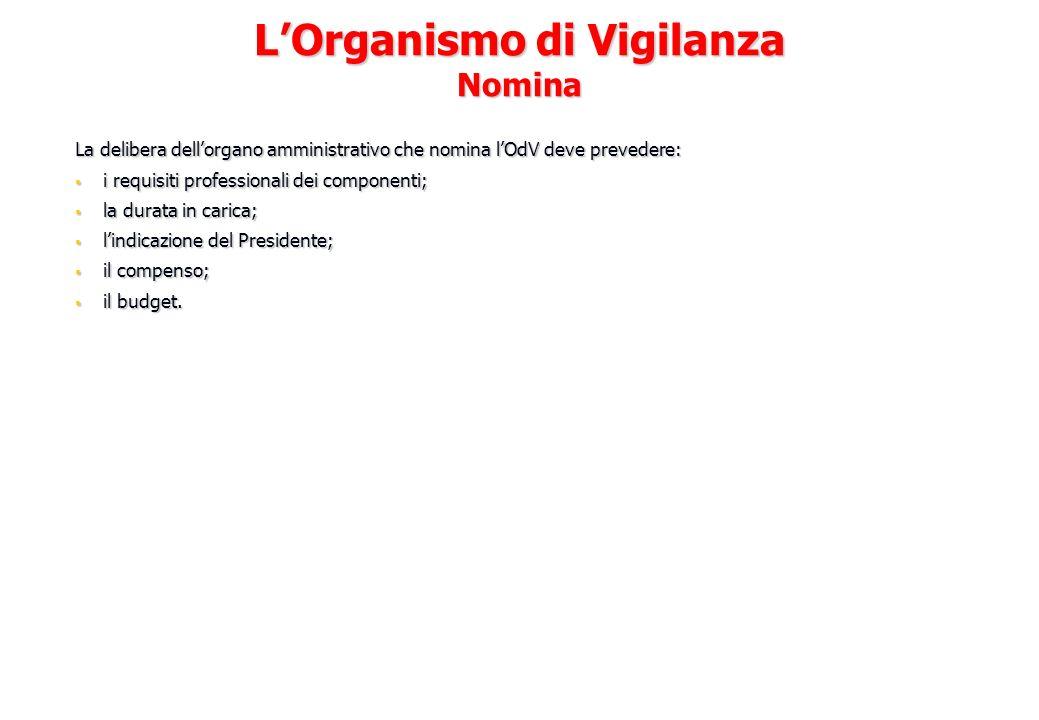 L'Organismo di Vigilanza