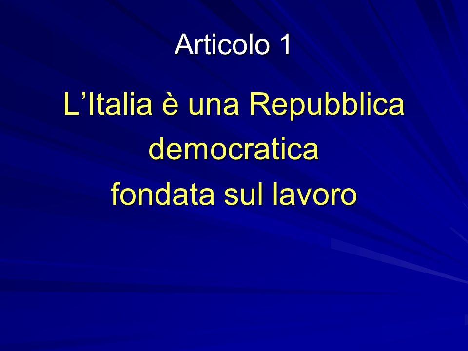 L'Italia è una Repubblica