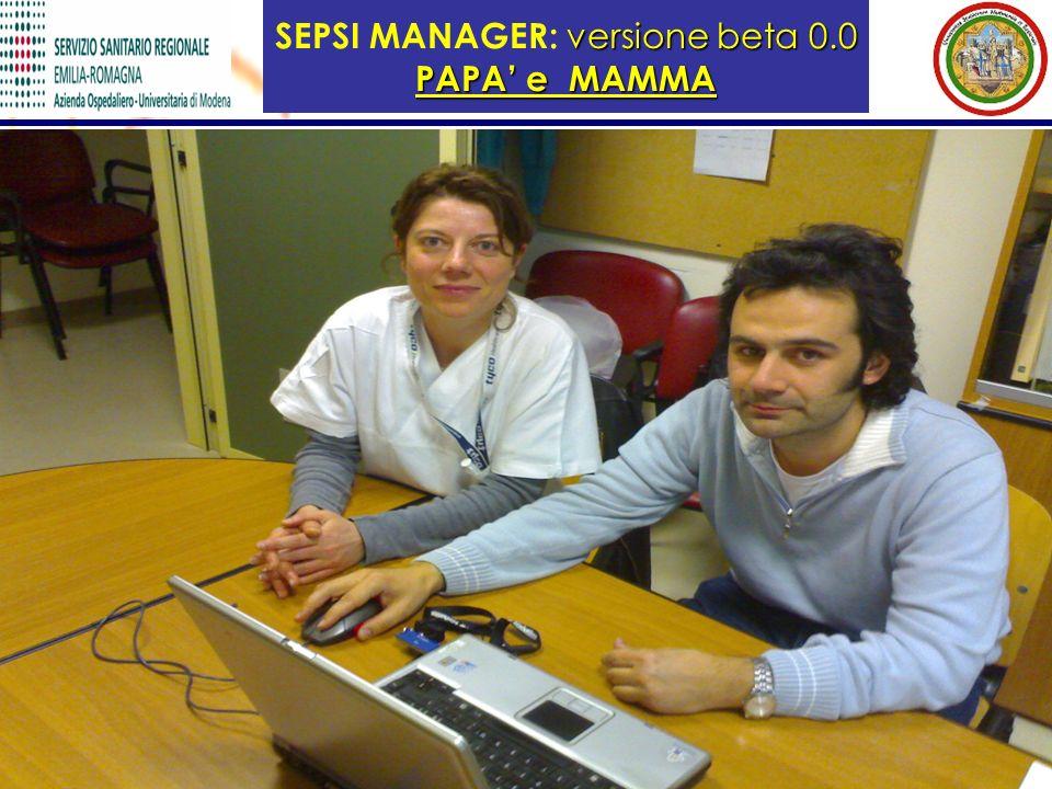 SEPSI MANAGER: versione beta 0.0 PAPA' e MAMMA