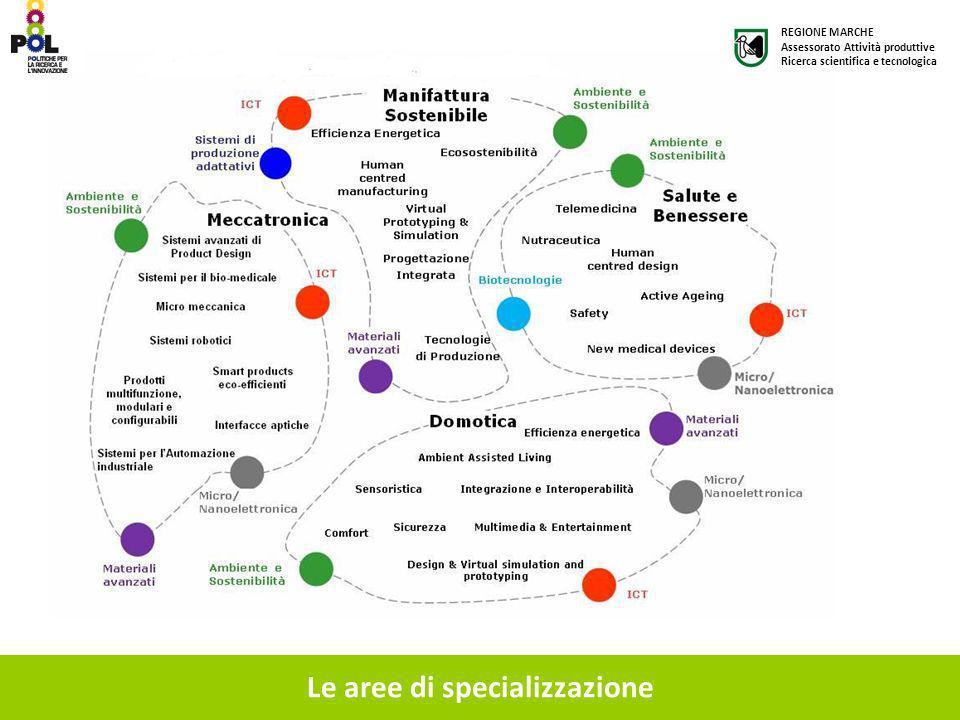 Le aree di specializzazione