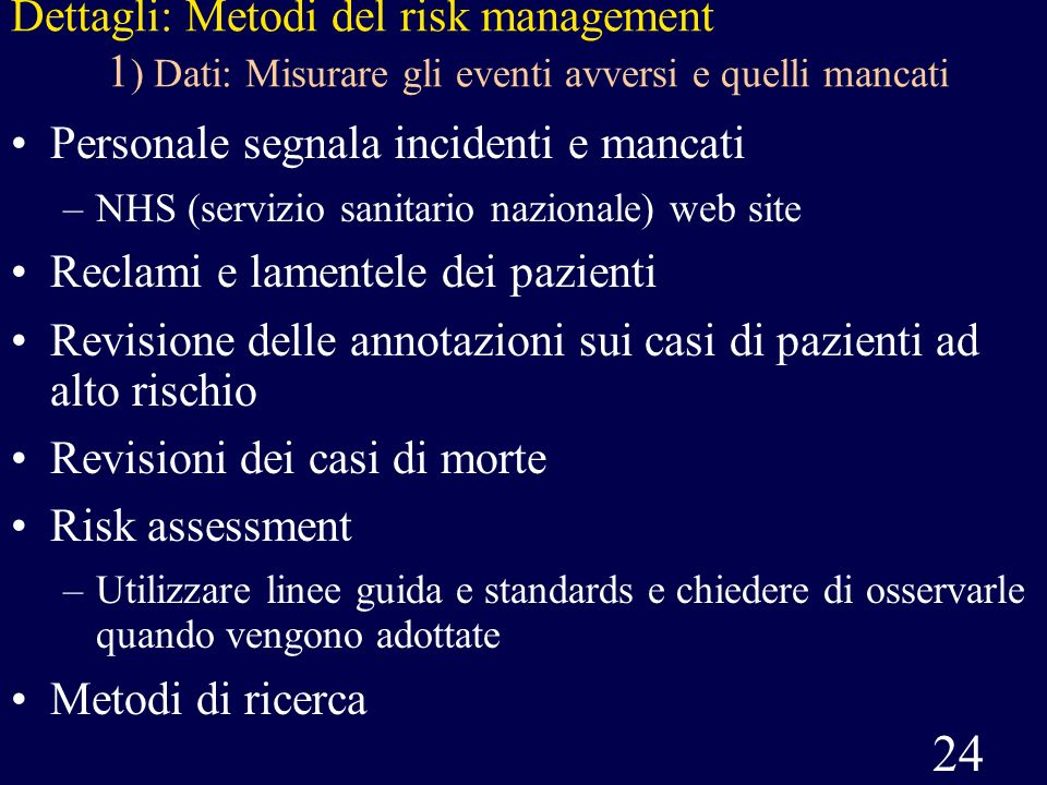 Personale segnala incidenti e mancati Reclami e lamentele dei pazienti