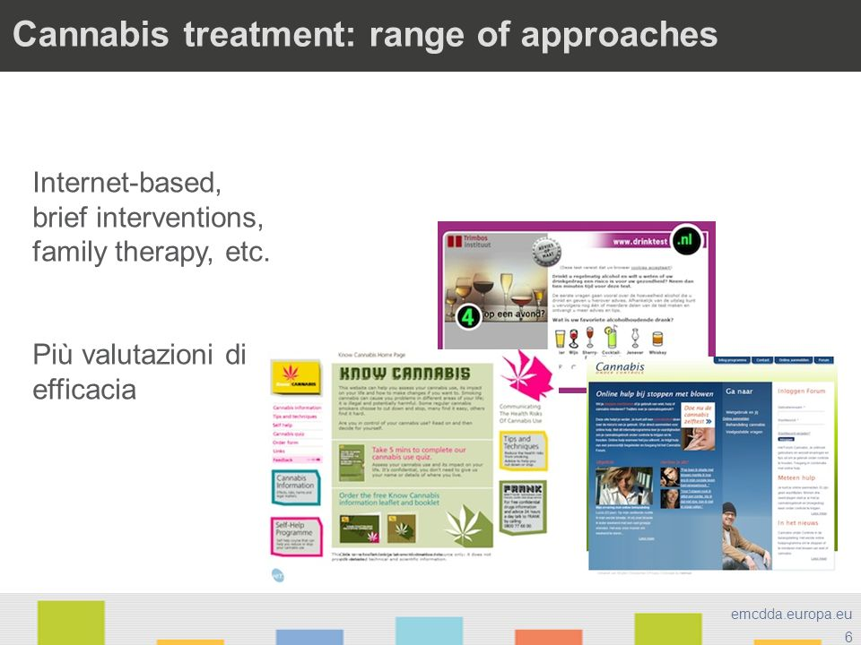 Cannabis treatment: range of approaches
