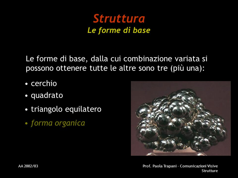 Struttura Le forme di base