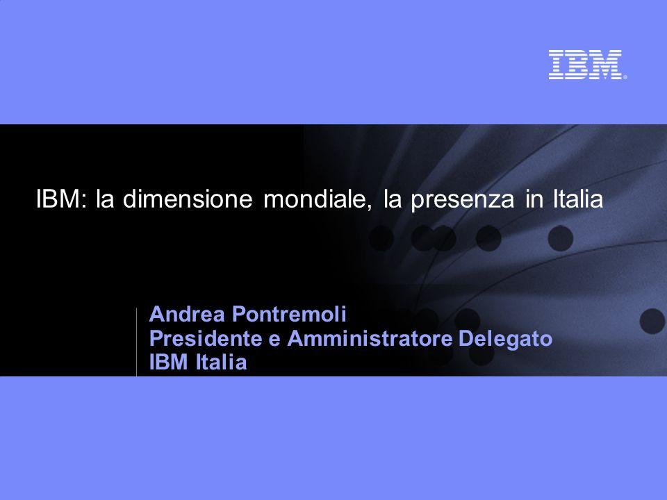 IBM: la dimensione mondiale, la presenza in Italia