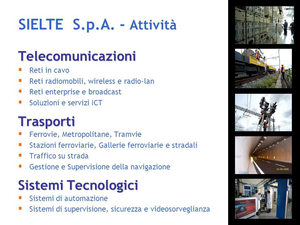 SIELTE S.p.A. - Attività Telecomunicazioni Trasporti