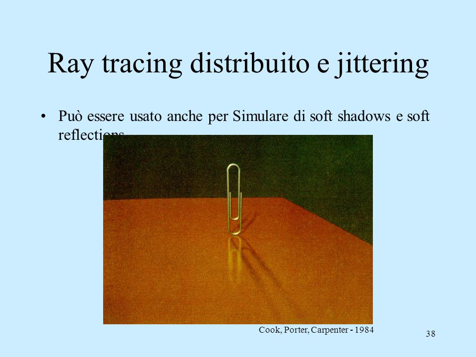 Ray tracing distribuito e jittering